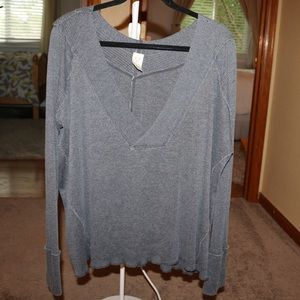 Grey Free People Sweater
